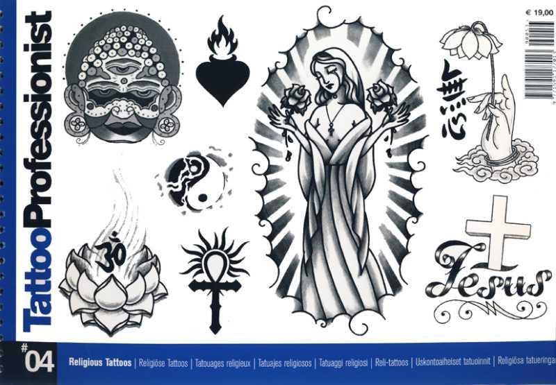 Tattoo professionist 4 religiöse motive