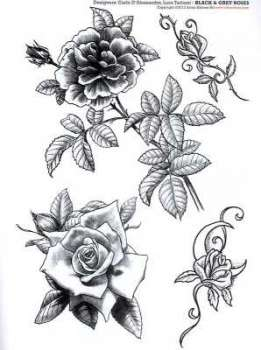 three black roses tattoo. Black Bedroom Furniture Sets. Home Design Ideas