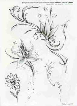 sina shop tattoo design fiori tattoo 3 blumen tattoos 3. Black Bedroom Furniture Sets. Home Design Ideas