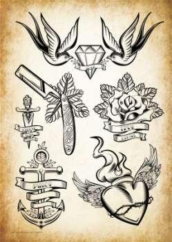 sina shop oldschool edel motive tattoo vorlagen. Black Bedroom Furniture Sets. Home Design Ideas