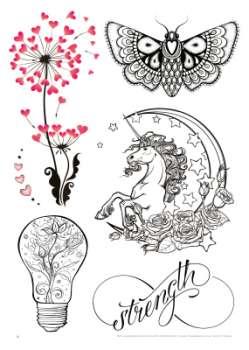 Sina Shop Feminine Tattoo Motive Einsteiger Vorlagen